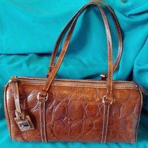 Vintage Dooney Bourke Leather Barrel Bag